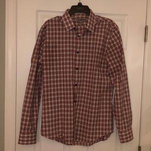 Express Men's Red Plaid Button Down Shirt